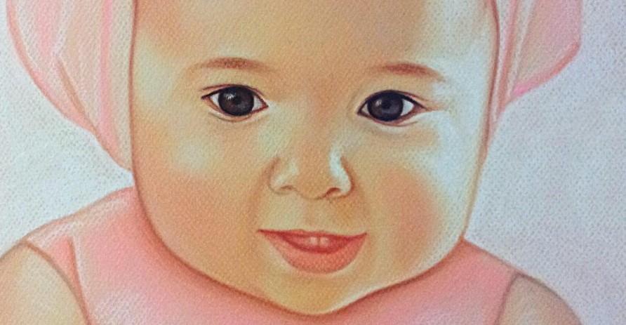 Где заказать детский портрет пастелью