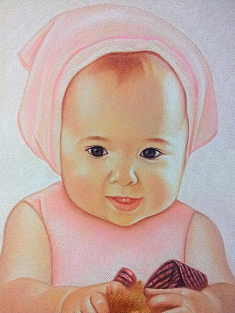 Детский портрет пастелью на заказ