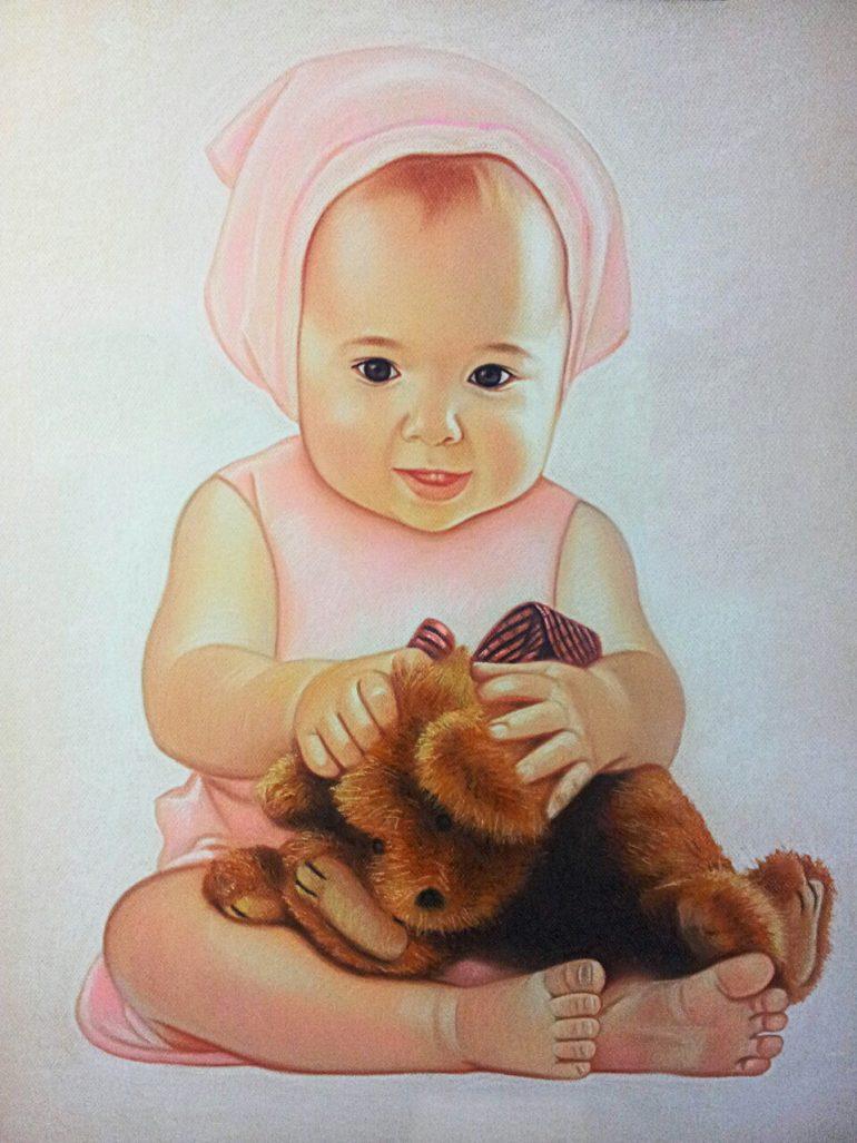 Часто скучаете по своим деткам? Закажите детский портрет!