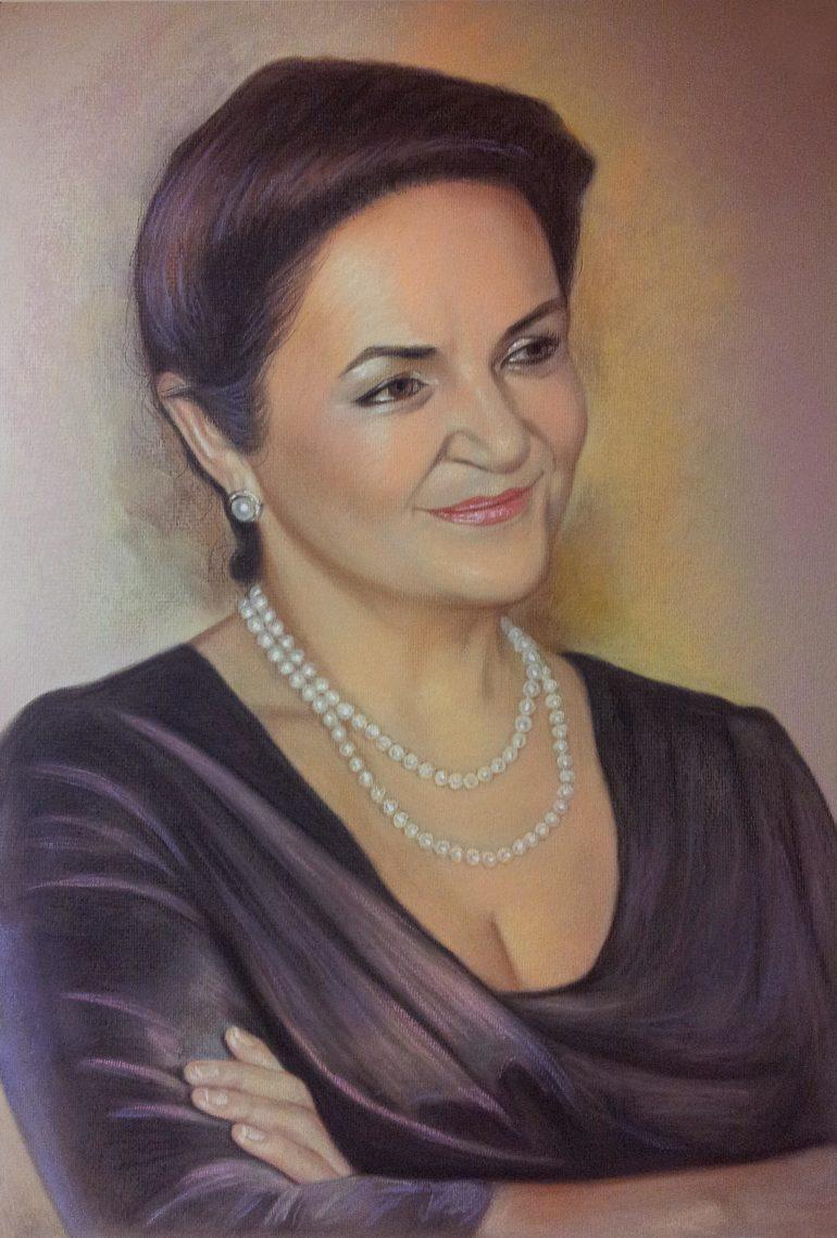 Настоящий портрет пастелью в подарок на юбилей…