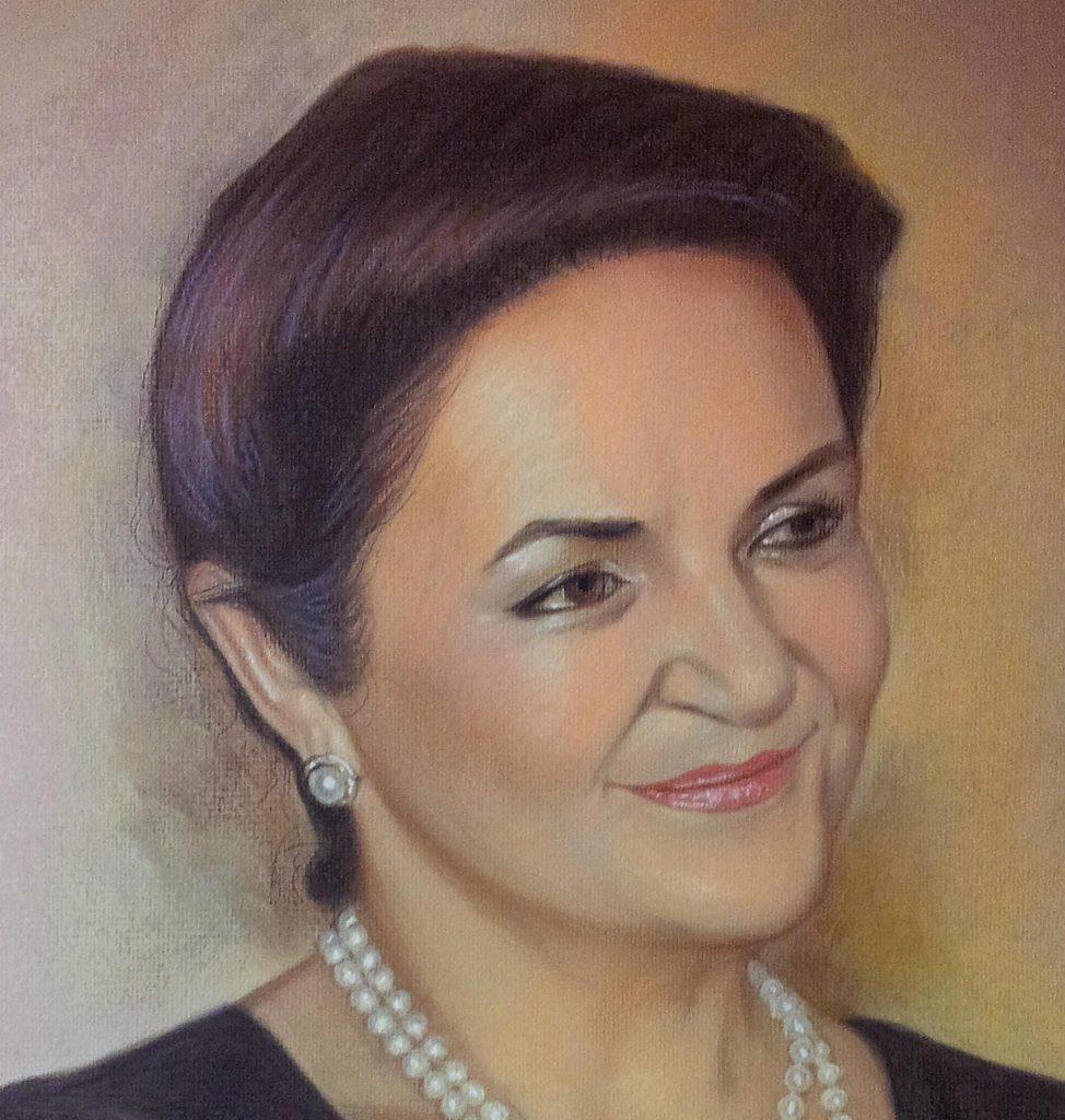 Портрет пастелью на юбилей по фото