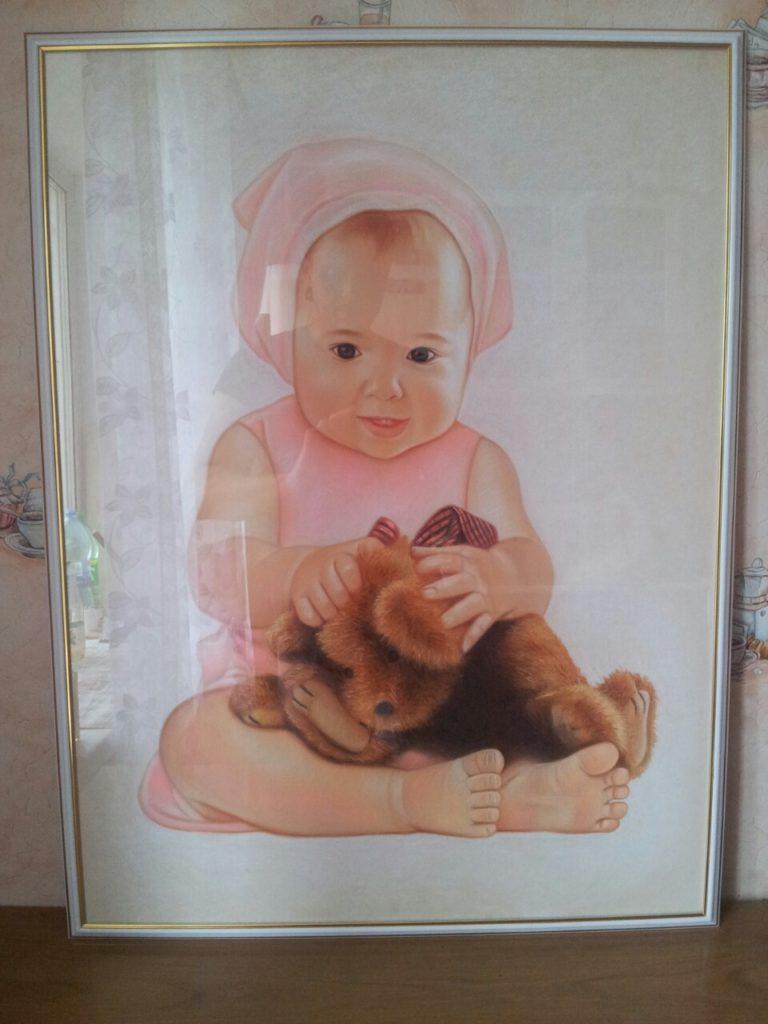 Портрет пастелью ребенка на заказ