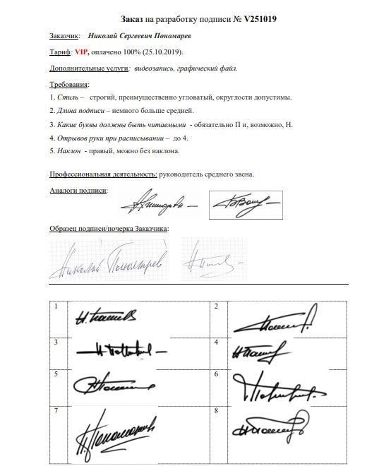 Разработка личной подписи онлайн Оренбург