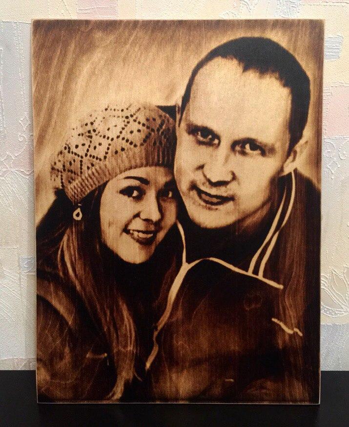 выжигание портретов по дереву на заказ в Оренбурге