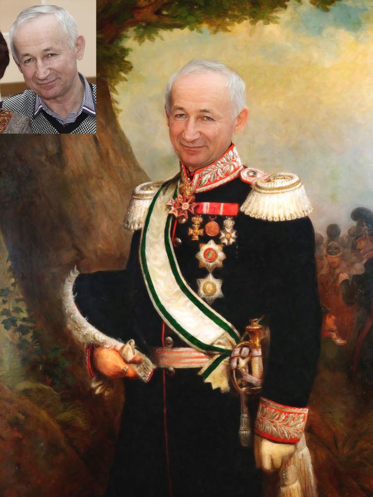 Где заказать исторический портрет по фото на холсте в Оренбурге?