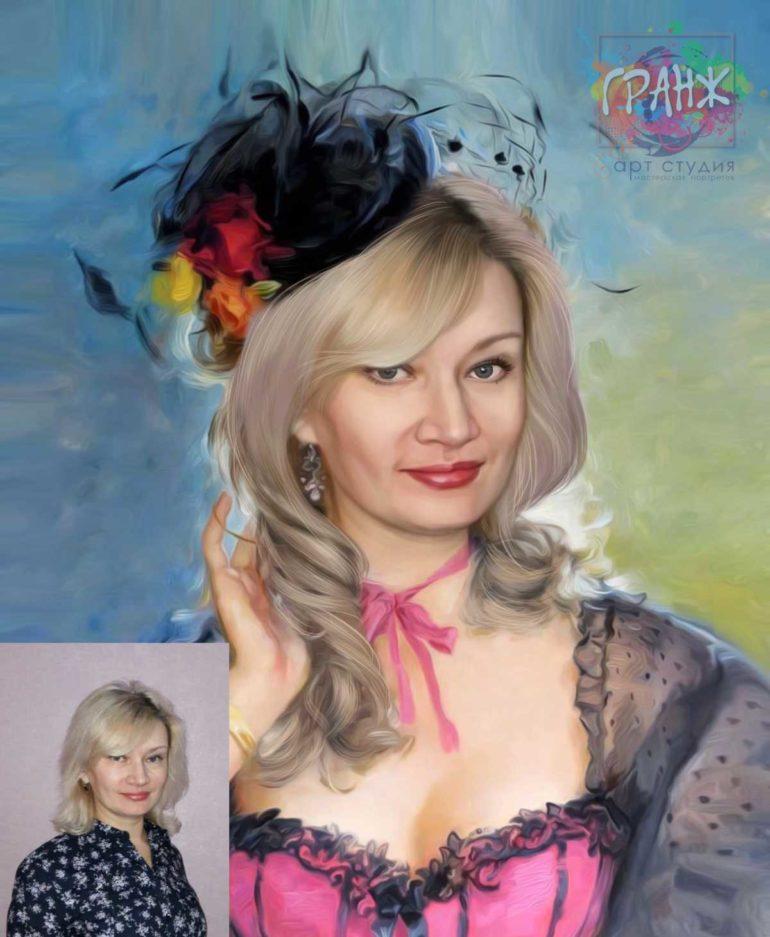 Заказать арт портрет по фото на холсте в Оренбурге