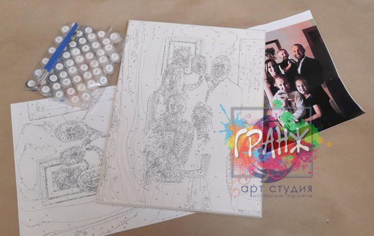 Картина по номерам по фото, портреты на холсте и дереве в Оренбурге
